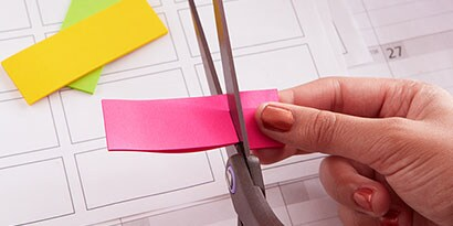 Trim the size of the Post-it® Page Markers