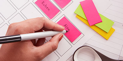Write the names of your students on each Post-it® Page Marker