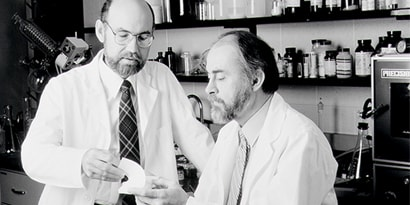 Drs. Spencer Silver and Art Frye of 3M each contributed to the invention of the Post-it® Note.