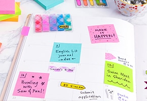 Post-it® Brand tips for managing a busy schedule